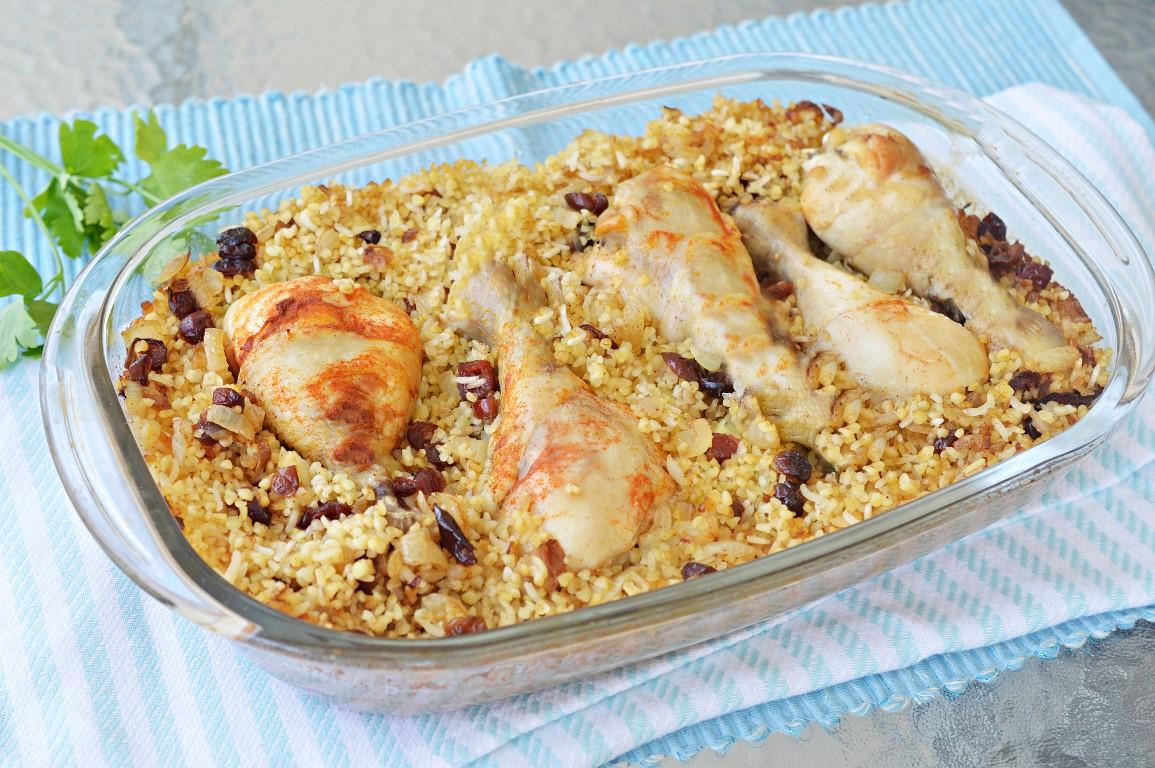מתכונים ב 10 דקות - עוף עם בורגול בתנור