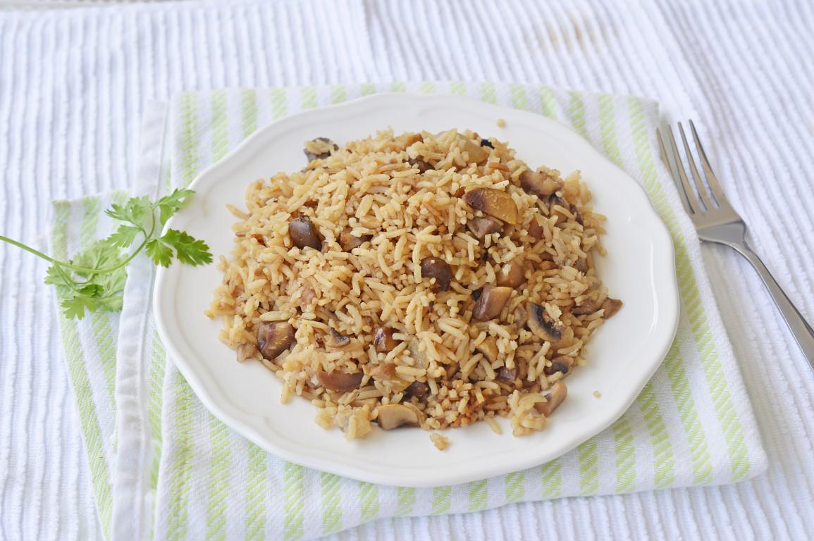 מתכון אורז עם ערמונים ופטריות