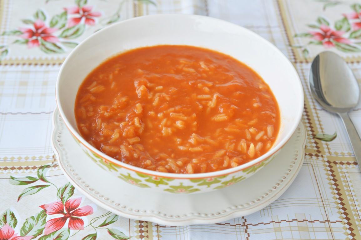 מתכון מרק עגבניות ואורז