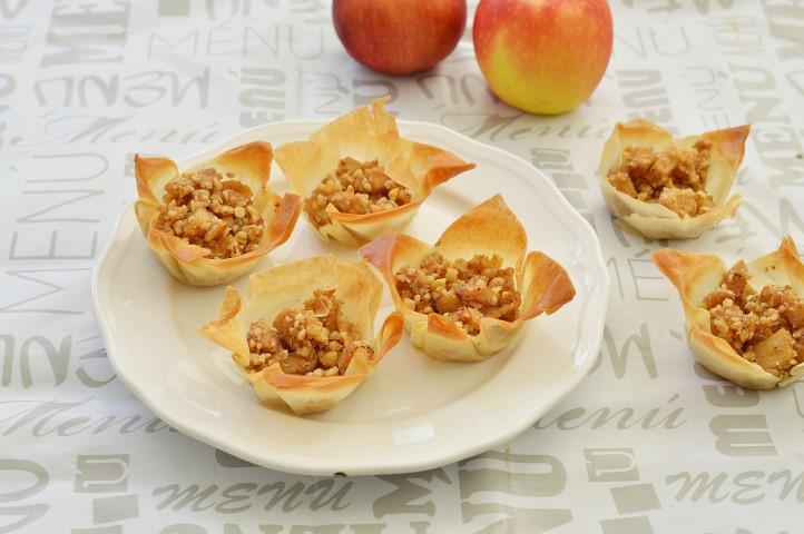 סלסלת פילו ותפוחים