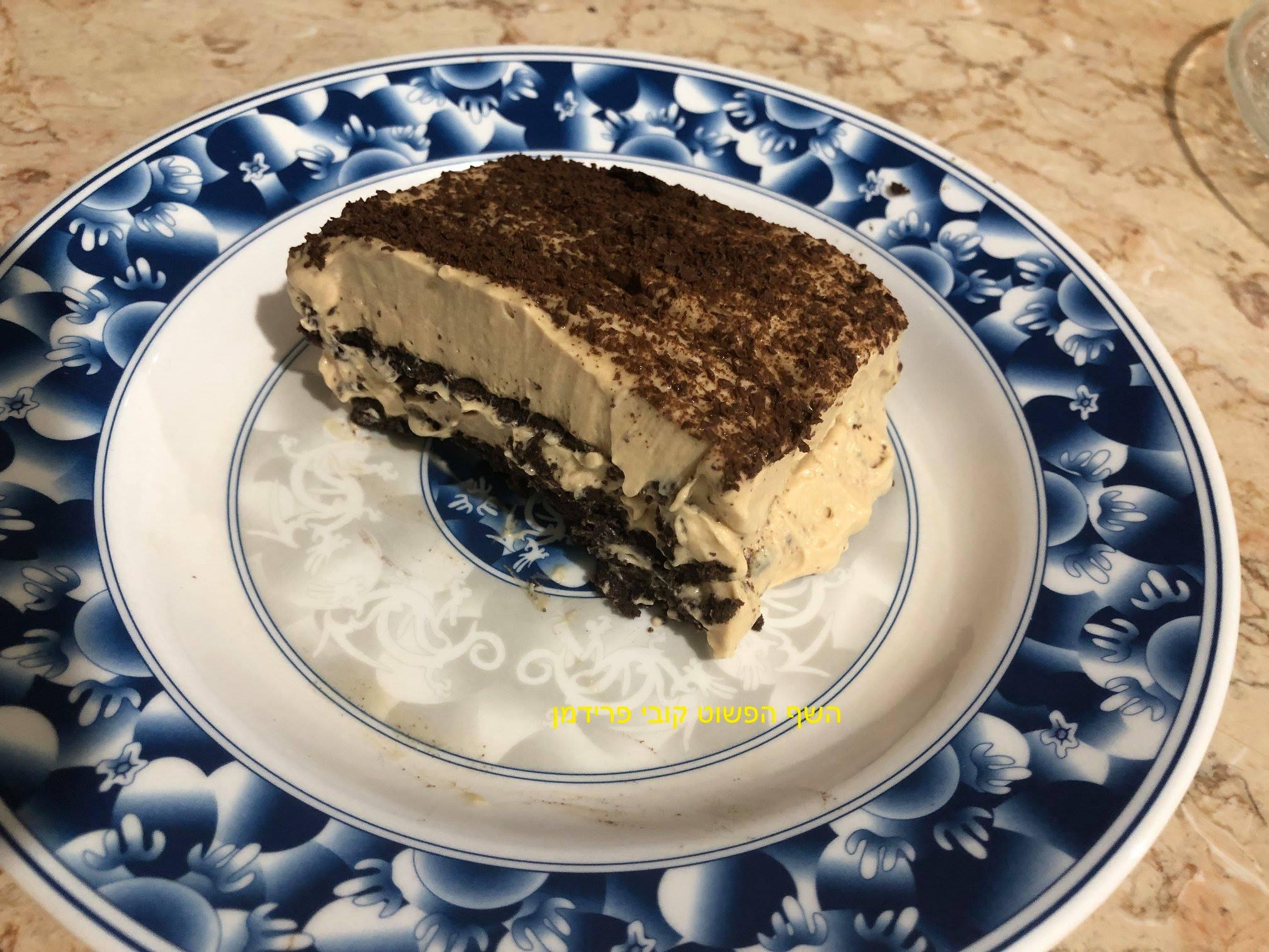עוגת ביסקוויטים בניחוח ריבת חלב