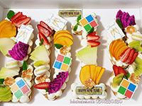 מתכון עוגת מספרים עם פירות