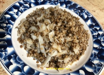 פסטה אורז ובצל - טבעוני