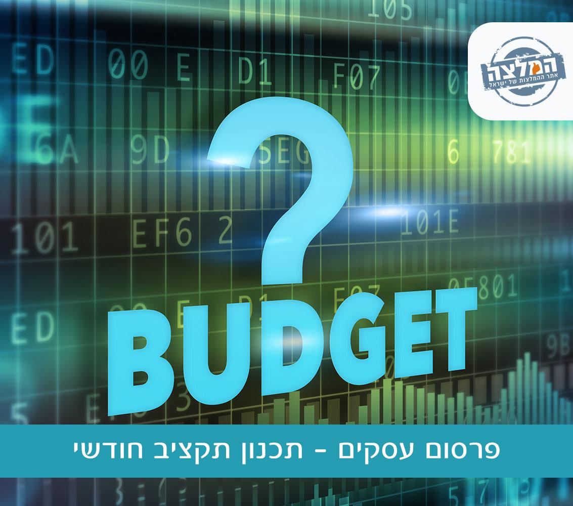 פרסום עסקים - תכנון תקציב חודשי